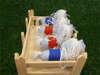 μπομπονιέρα βάπτισης αλογάκι υφασμάτινο ριγέ