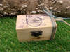 ξύλινο κουτάκι με ποδήλατο vintage για βάπτιση αγοριού