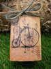 μπομπονιέρα ξύλινο κουτάκι με ποδήλατο vintage