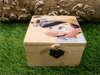 κουτάκι ξύλινο με δαντελίτσα και τον πινόκιο για βάπτιση