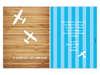 Εικόνα με Προσκλητήριο βάπτισης αγοράκι αεροπλάνο