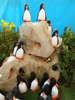 υφασμάτινοι πιγκουίνοι λευκό-μαύρο για βάπτιση
