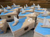 ξύλινο κουτί με θέμα το καράβι και τα κοχύλια για βάπτιση και προσκλητήριο με το ίδιο θέμα