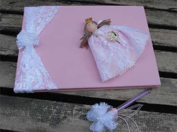 Εικόνα του Βιβλία ευχών βάπτισης πριγκίπισσα ροζ