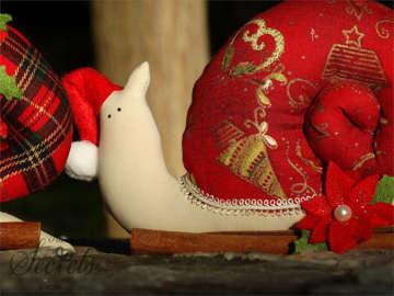 Εικόνα του Χριστουγεννιάτικη μπομπονιέρα σαλιγκάρι