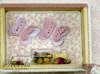 Εικόνα με Μπομπονιέρα βάπτισης καδράκι πεταλούδες