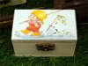 μπομπονιέρα ξύλικο κουτάκι vintage για βάπτιση
