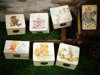 μπομπονιέρες βάπτισης ξύλινα κουτάκια με vintage θέμα