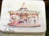μπομπονιέρα βάπτισης vintage καρουζέλ για βάπτιση