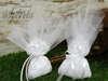 Εικόνα με Μπομπονιέρα γάμου πουγκί με δαντέλα