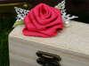 Εικόνα με Μπομπονιέρα βάπτισης κουτάκι λινάτσα
