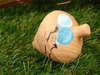 Μπομπονιέρα ξύλινη σβούρα με μπαλόνια