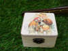 ξύλινα κουτάκια vintage για βάπτιση με θέμα τα παιδάκια κ το σκυλάκι