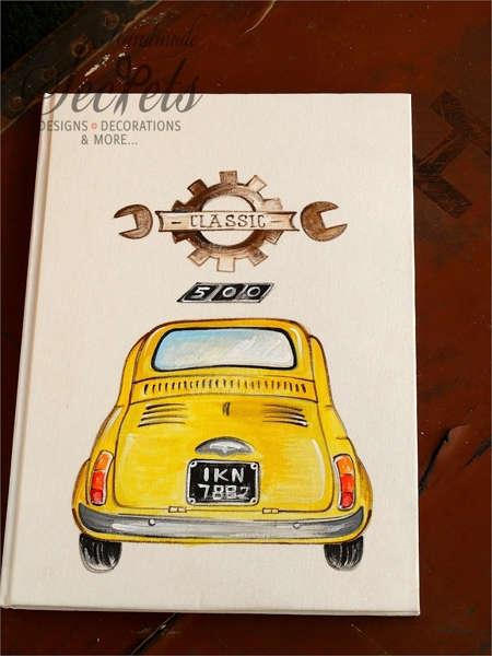 Εικόνα με Βιβλίο ευχών vintage αυτοκίνητο