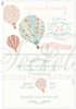 Εικόνα με Προσκλητήριο βάπτισης αερόστατο vintage