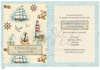 Εικόνα με Προσκλητήριο βάπτισης ναυτικό vintage