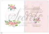 Εικόνα με Προσκλητήριο βάπτισης λουλουδάκια με άσπρο φόντο