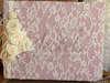 Εικόνα με Βιβλίο ευχών vintage  ροζ λευκά λουλούδια
