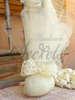 Μπομπονιέρα γάμου με φιόγκο από δαντέλα