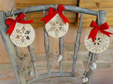 Εικόνα του Μπομπονιέρες ξύλινες νιφάδες