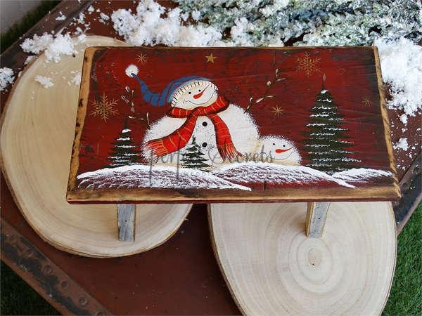 Εικόνα με Χριστουγεννιάτικο διακοσμητικό σκαμπό