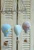 υφασμάτινες μπομπονιέρες αερόστατα για βάπτιση σε πολλά χρώματα και σχέδια