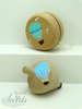 ξύλινο γιο-γιο ή σβούρα για βάπτιση με αερόστατο