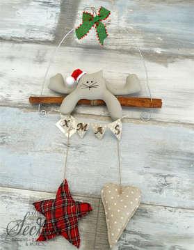Εικόνα του Χριστουγεννιάτικο διακοσμητικό γάτα