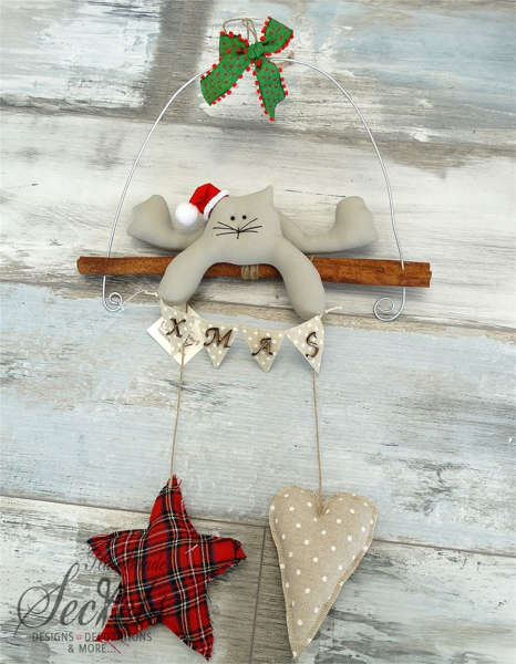 Εικόνα με Χριστουγεννιάτικο διακοσμητικό γάτα
