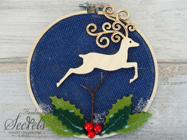 Εικόνα με Χριστουγεννιάτικο διακοσμητικό τελαράκι