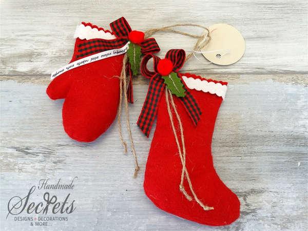 Εικόνα με Χριστουγεννιάτικα διακοσμητικά γάντι μπότα