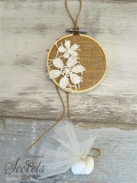 Εικόνα του Μπομπονιέρα τελαράκι λουλούδια
