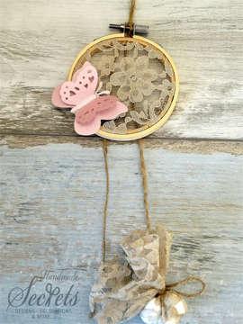 Εικόνα του Μπομπονιέρα τελαράκι ροζ πεταλούδα