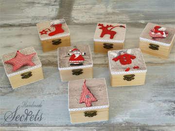 Εικόνα του Χριστουγεννιάτικα ξύλινα κουτάκια