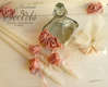 Εικόνα με Λαδοσέτ βάπτισης με σομόν τριαντάφυλλα