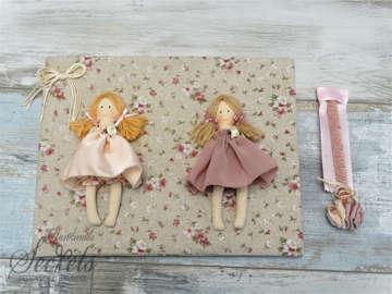 Εικόνα του Βιβλίο ευχών φλοράλ με κούκλες