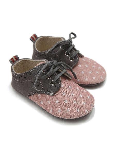 Εικόνα με KEVIN ΡΟΖ βαπτιστικά παπούτσια αγόρι