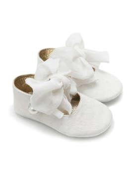 Εικόνα του EMILLY ΛΕΥΚΟ βαπτιστικά παπούτσια κορίτσι