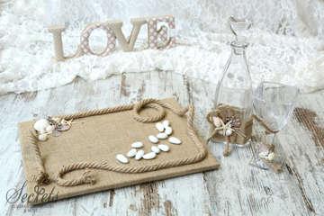 Εικόνα του Σετ γάμου με θέμα θαλασσινό