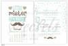 Εικόνα με Προσκλητήριο βάπτισης ημερολόγιο με μουστάκι