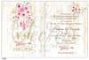 Εικόνα με Προσκλητήριο γάμου Λουλούδια Χρυσά Μονογράμματα