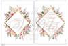 Εικόνα με Προσκλητήριο γάμου μπρονζέ ρόμβος με λουλούδια
