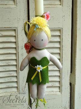 Εικόνα του Λαμπάδα πασχαλινή κούκλα Τίνκερμπελ
