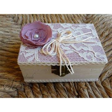 Εικόνα του Κουτί για βέρες λουλούδι πέρλα