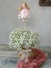 Εικόνα με Διακοσμητικό βάπτισης κουκλίτσα αρκουδάκι