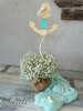 Εικόνα με Διακοσμητικό βάπτισης ξύλινη άγκυρα