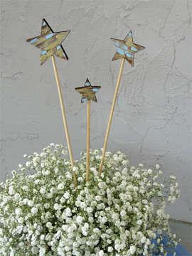 Εικόνα του Διακοσμητικό βάπτισης ξύλινα αστεράκια