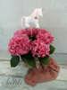 Εικόνα με Διακοσμητικό βάπτισης μονόκερος λουλουδάκια