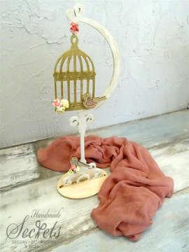 Εικόνα του Διακοσμητικό βάπτισης ξύλινο κλουβί