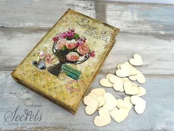 Εικόνα του Ξύλινο κουτί ευχών λουλούδια